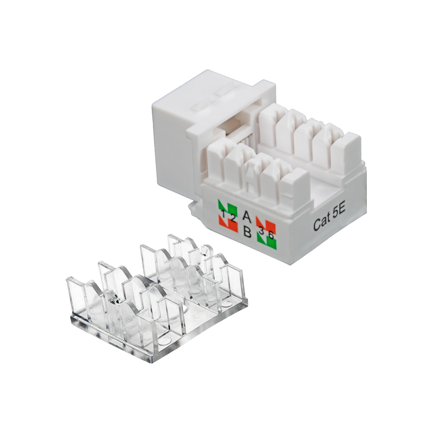 100 Pack Lot Keystone Jack Cat5e White Network Ethernet