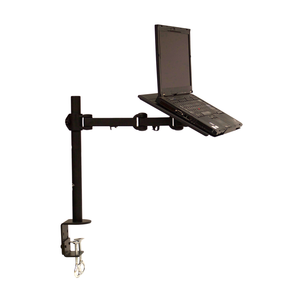 Extendable C Clamp : Laptop notebook stand desk desktop c clamp mount fully